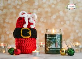 holiday crochet candle cozies holiday crochet cozy and free pattern