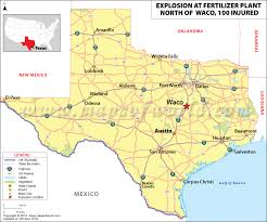 map waco explosion at fertilizer plant the blast killed at least 2