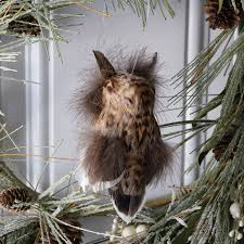 feather owl ornament
