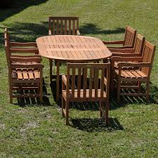 Patio Dining Set by Eucalyptus Patio Dining Furniture Patio Furniture The Home Depot