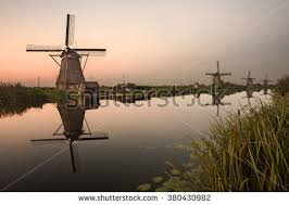 kinderdijk sunset wallpapers photo collection windmill reflection river sunset
