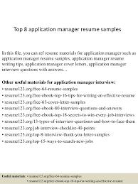 Application Resume Top 8 Application Manager Resume Samples 1 638 Jpg Cb U003d1428676174