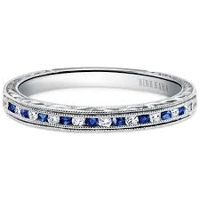 kirk kara wedding band kirk kara 18k white gold blue sapphire and diamond stella wedding band