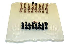 chess set glass board lorenzo quinn