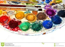 Color And Paint by Water Color Paint Box And Paint Brush Stock Photos Image 21560123