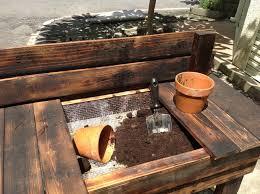 Plant Bench Plans - pallet garden potting bench painting a garden potting bench