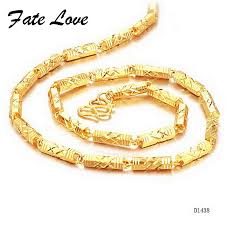 gold man chain necklace images Online shop fate love new fashion promotion men chain choker jpg
