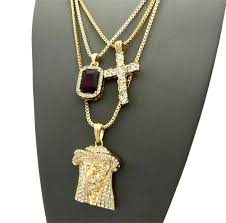 jesus cross gold necklace images Buy gold embellished jesus cross and ruby stone chain set find JPG