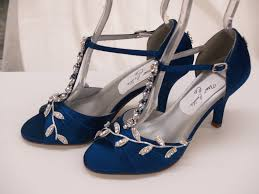 wedding shoes low heel pumps blue wedding shoes royal blue with silver swarovski crystals