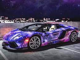 what type of car is a lamborghini awesome galaxy wrapped aventador roadster will take your breath