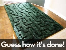How To Make An Area Rug Out Of Carpet Tiles How To Make A 3d Maze Rug Curbly