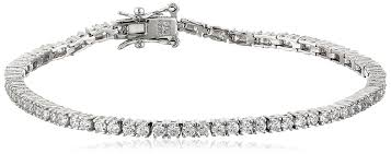 diamond bracelet jewelry images Platinum plated sterling silver cubic zirconia tennis jpg