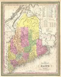 map of maine a new map of maine geographicus antique maps