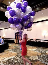balloon arrangements delivered purple and silver party decorations balloon bouquet purple and