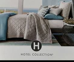 turquoise quilted coverlet new hotel collection cotton voile linen turquoise gray queen