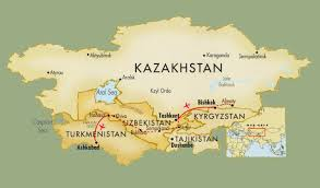 Map Of Central Asia Around The World With Uncle Moose On The Silk Road Central Asia