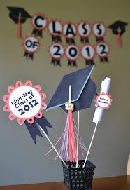 high school graduation party centerpieces high school graduation centerpieces and banner graduation ideas