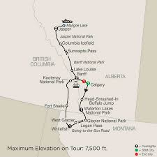 Canada National Parks Map by Tour Western Canada Canadian Rockies Vancouver Vacation