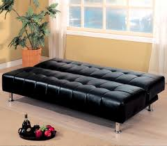 Tufted Faux Leather Sofa by Cream Convertible Sofa Bed Superior Frame Construction Rectangular