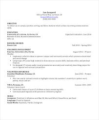 Sample Resume Template Download by Download Undergraduate Resume Sample Haadyaooverbayresort Com
