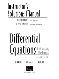 instructor solutions manual differential equations with boundary