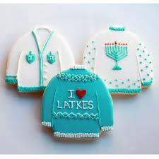ugly hanukkah sweater cookie gift set vanilla 3 cookies made