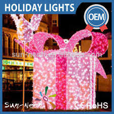 Christmas Rope Light Motifs by Holiday Decoration Led Street Motif 3d Gift Box Outdoor Christmas