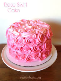 pink rose swirl cake say it with cake