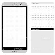 generic smartphone template with dot grid stock vector art