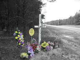 roadside memorial crosses crosses flowers and asphalt roadside memorials in the us south