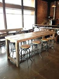 bar height conference table reclaimed wood bar height table acoa2015 com