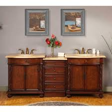 84 Inch Bathroom Vanities by 84 Inch Led Lighted Double Sink Vanity With Travertine Uvsr0193tl84