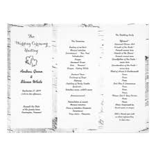 Tri Fold Program Tri Fold Wedding Programs Gifts On Zazzle