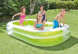Plastic Swimming Pools At Walmart Intex Inflatable Swim Center Family Lounge Pool 103
