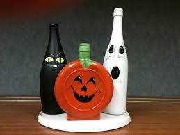 Wine Bottle Halloween Crafts by Halloween Wine Bottles I Made Holiday Decorations Pinterest Diy