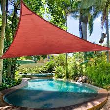 Backyard Shade Sail by 16 5 U0027 Triangle Outdoor Sun Shade Sail Canopy Color Opt Outdoor