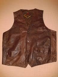 leather biker vest men u0027s xxl brown genuine leather biker vest secondhand pursuit