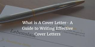 what is a cover letter how to write a cover letter