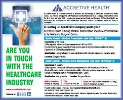 Medical Transcriptionist Job Description Resume by Job Quality Analyst Medical Transcription Noida Gurgaon