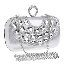 small metal rings images Factory price evening bags metal rings diamonds small purse jpg