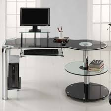 innovex glass computer desk black innovex home products dp1025 orbit black fusion glass desk home