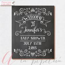 baby shower welcome sign welcome baby shower sign chalkboard welcome by alapipetuadesign