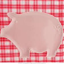 pig shaped dinner plate pink porcelain novelty dinnerware