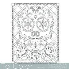 179 coloring skull images skull coloring
