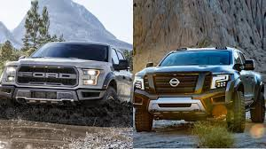 nissan truck titan 2017 2017 ford f 150 raptor vs 2016 nissan titan warrior youtube