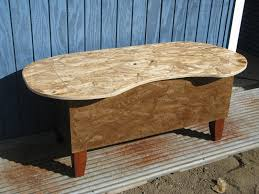 kidney bean shaped table hand crafted bathtub kidney bean shaped coffee table by modular osb