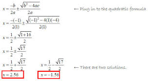 quadratic formula 4