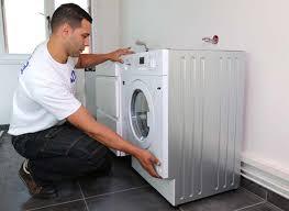 lave linge dans la cuisine armoire a rideau coulissant pour lave linge achat meuble lave
