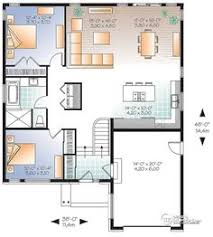 Contemporary House Floor Plan W3138 Economical Contemporary Modern House Plan With Open Floor