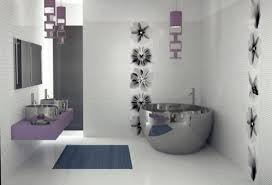 wallpaper bathroom designs modern bathroom bathtub home design ideas design pics